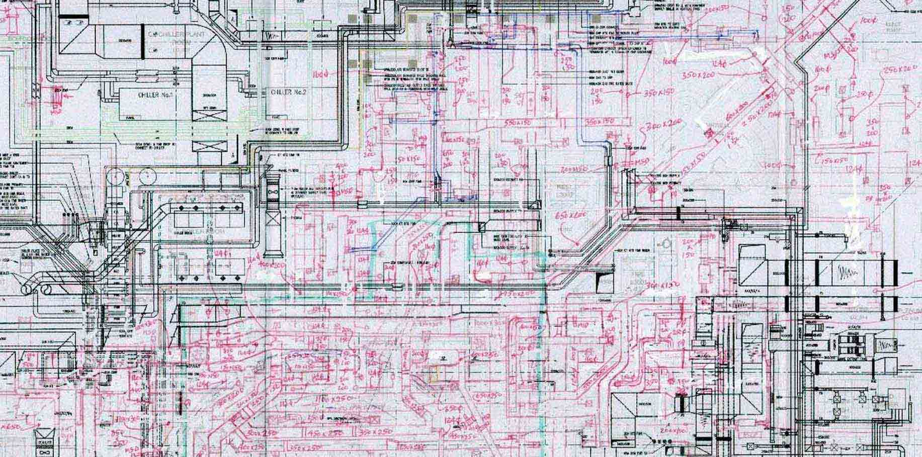 Cad Drafting From Mark Ups Autocad Services Revit Modelling Hvac Drawing The Up